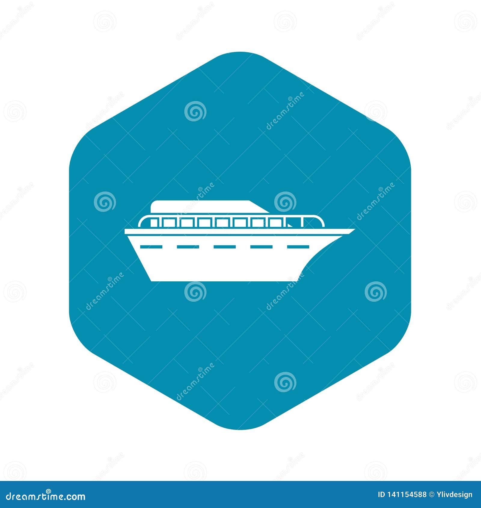 Значок Powerboat, простой стиль