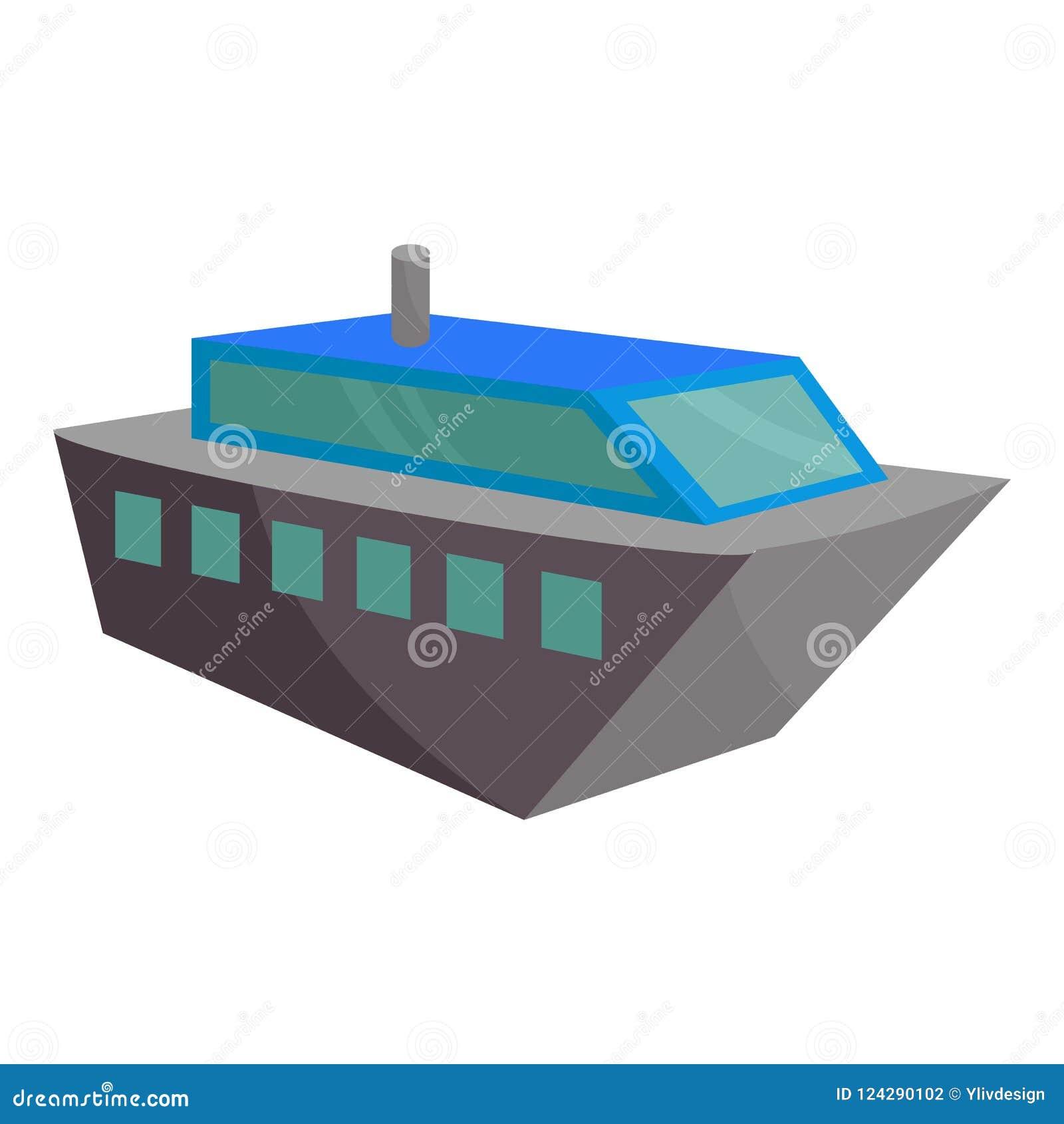 Значок Powerboat, стиль шаржа