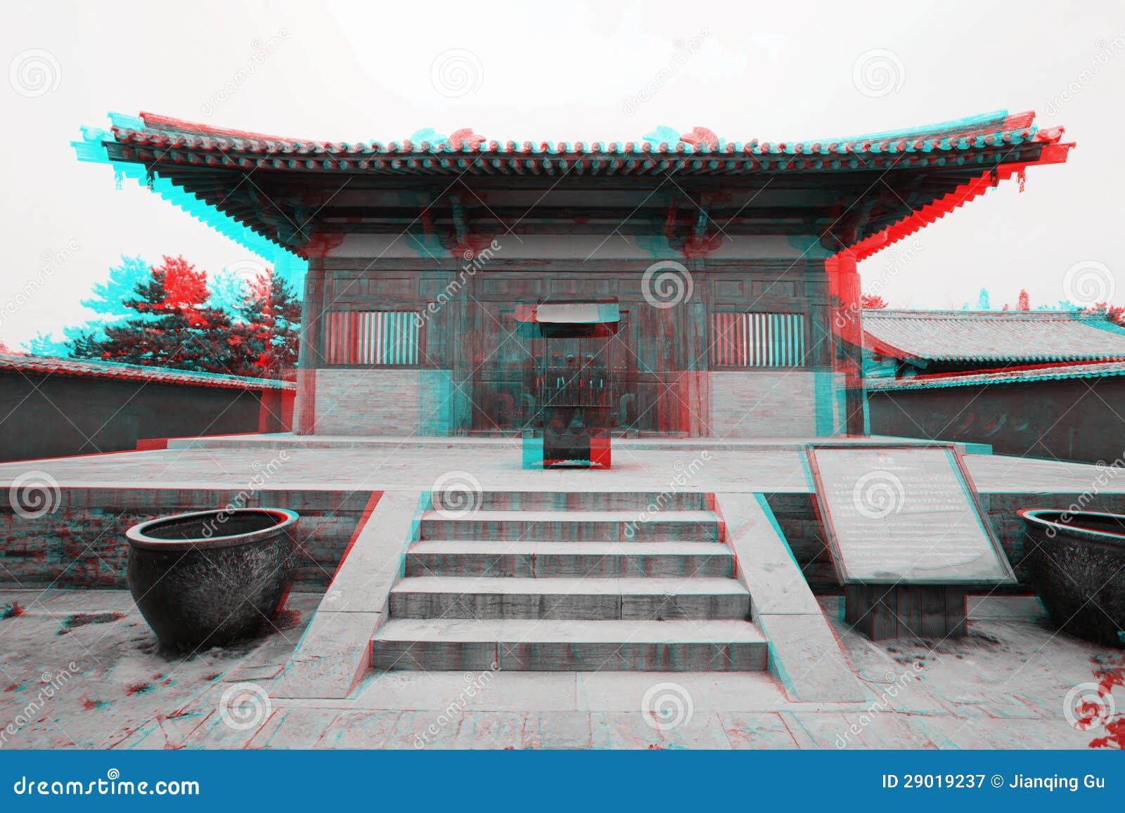 Зодчество традиционного китайския в 3D