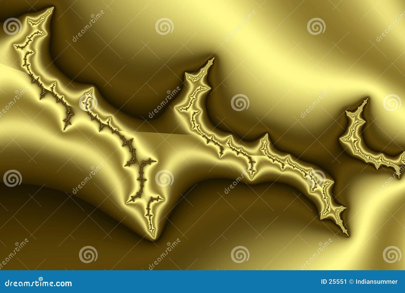 золотистая картина III