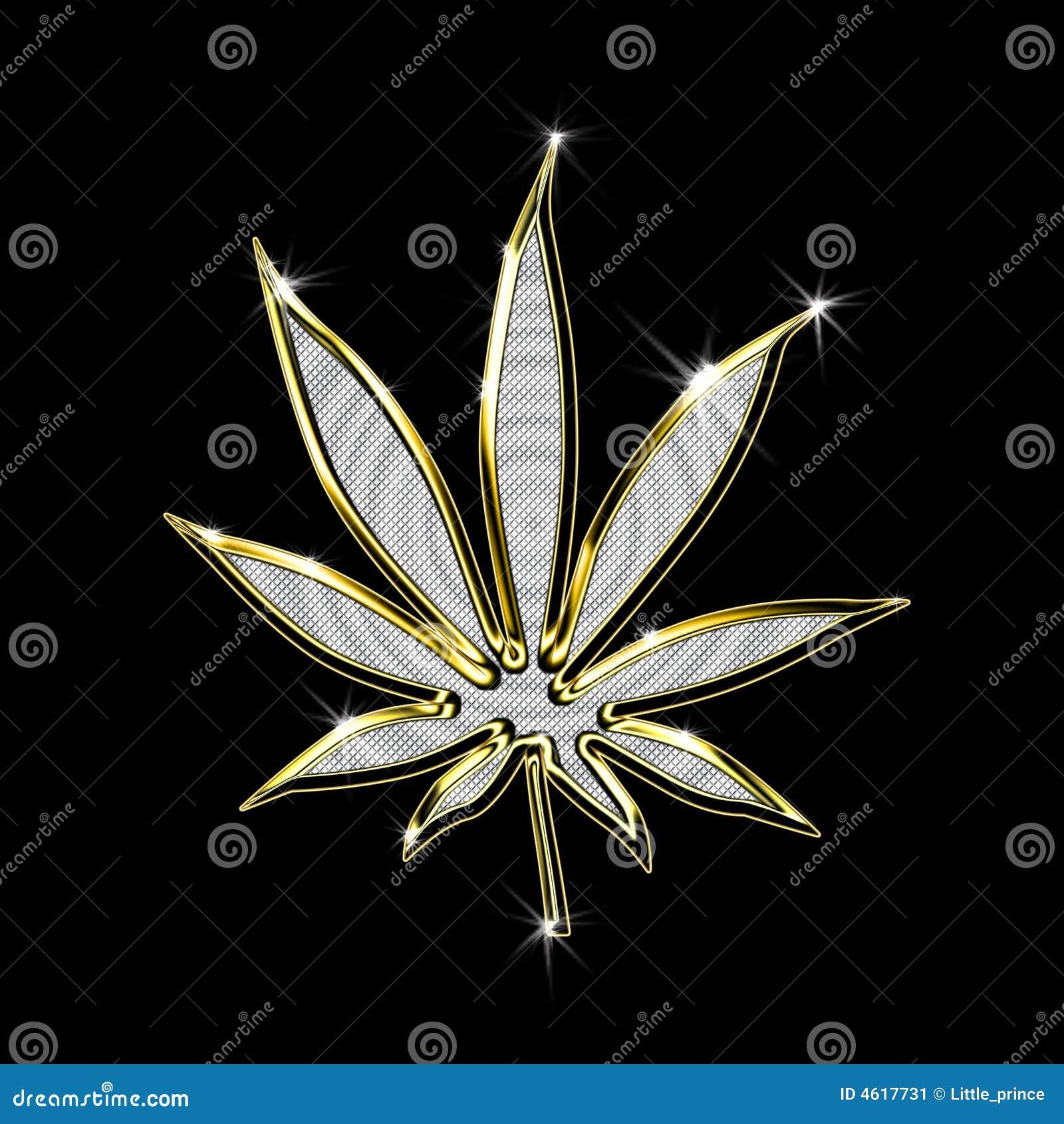 золотистая марихуана листьев