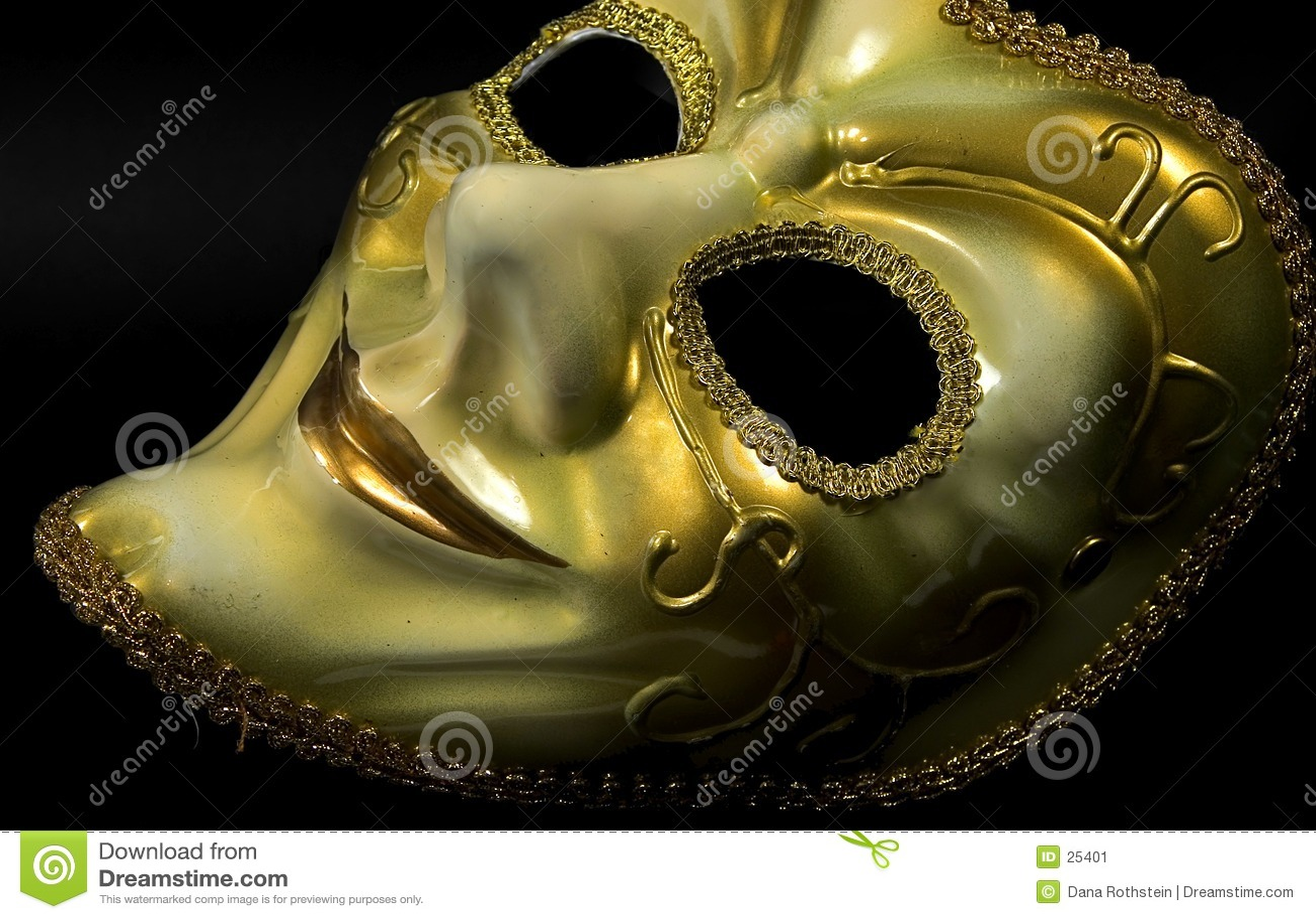 золотистая маска