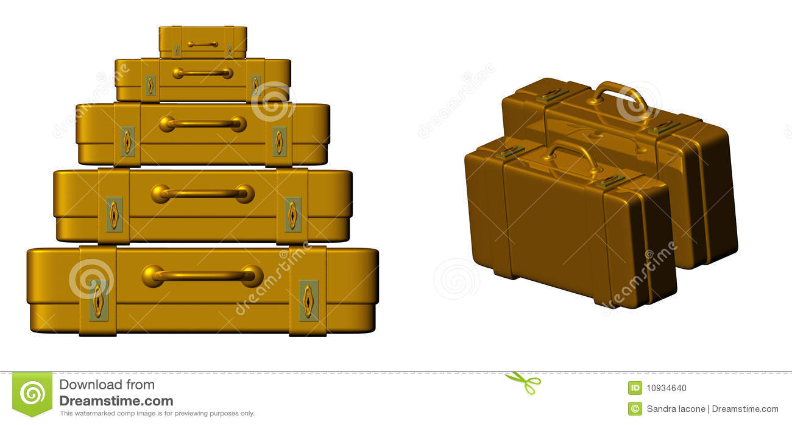 золотистый чемодан