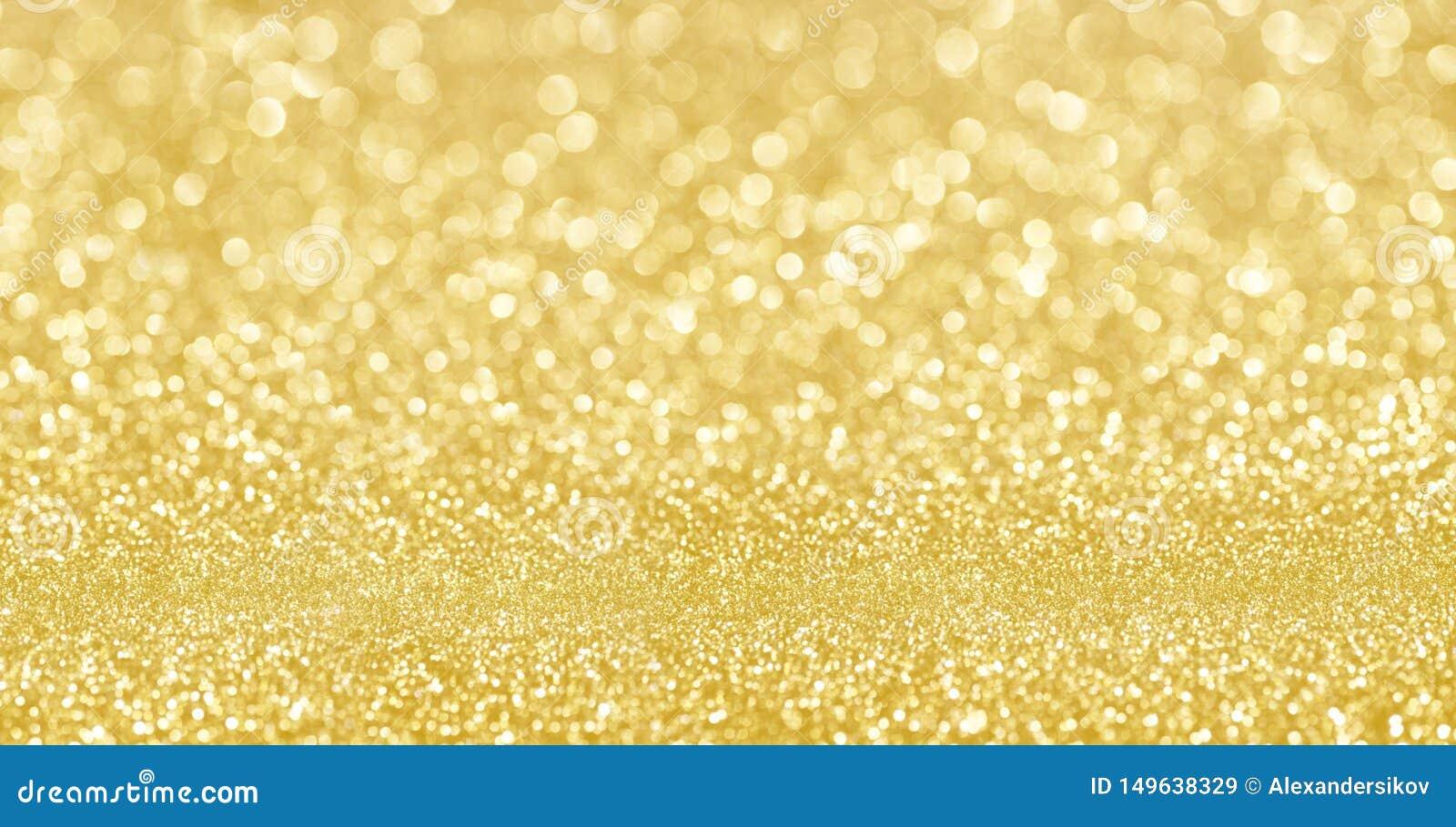 Золотой confetti текстуры яркого блеска shimmer конструировал предпосылку