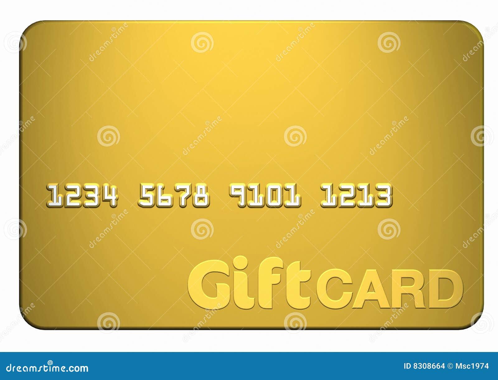 золото подарка карточки