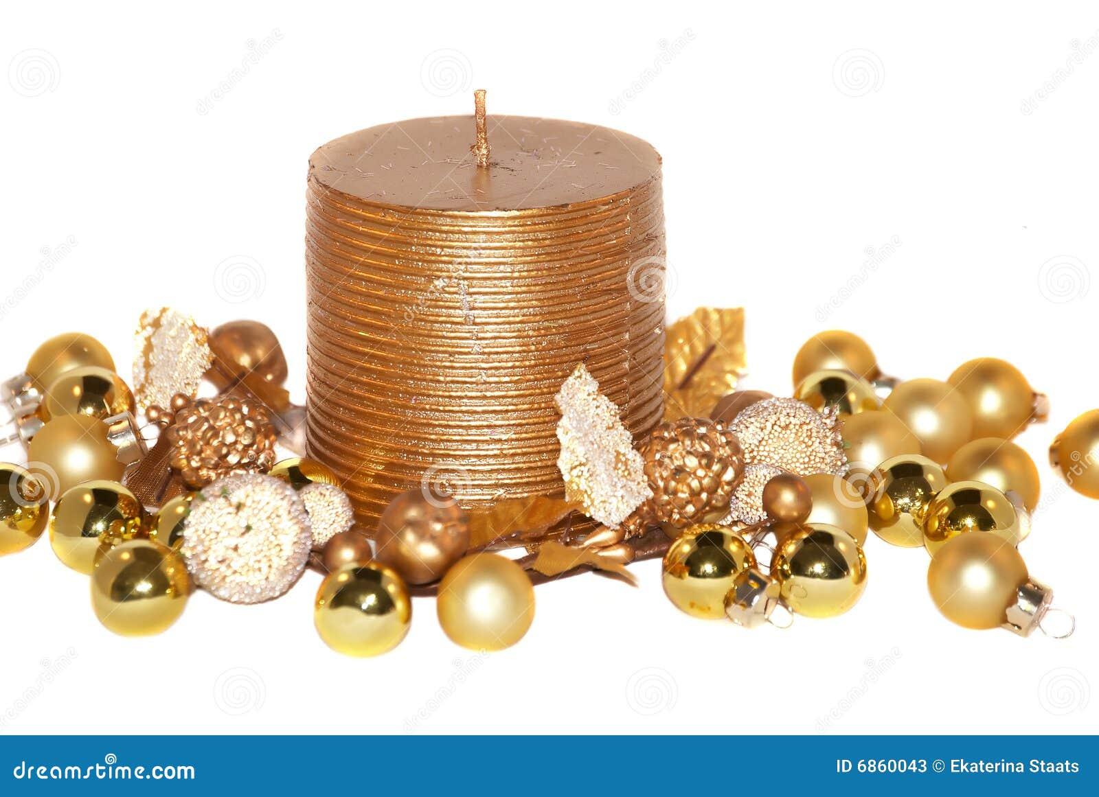 золото рождества свечки