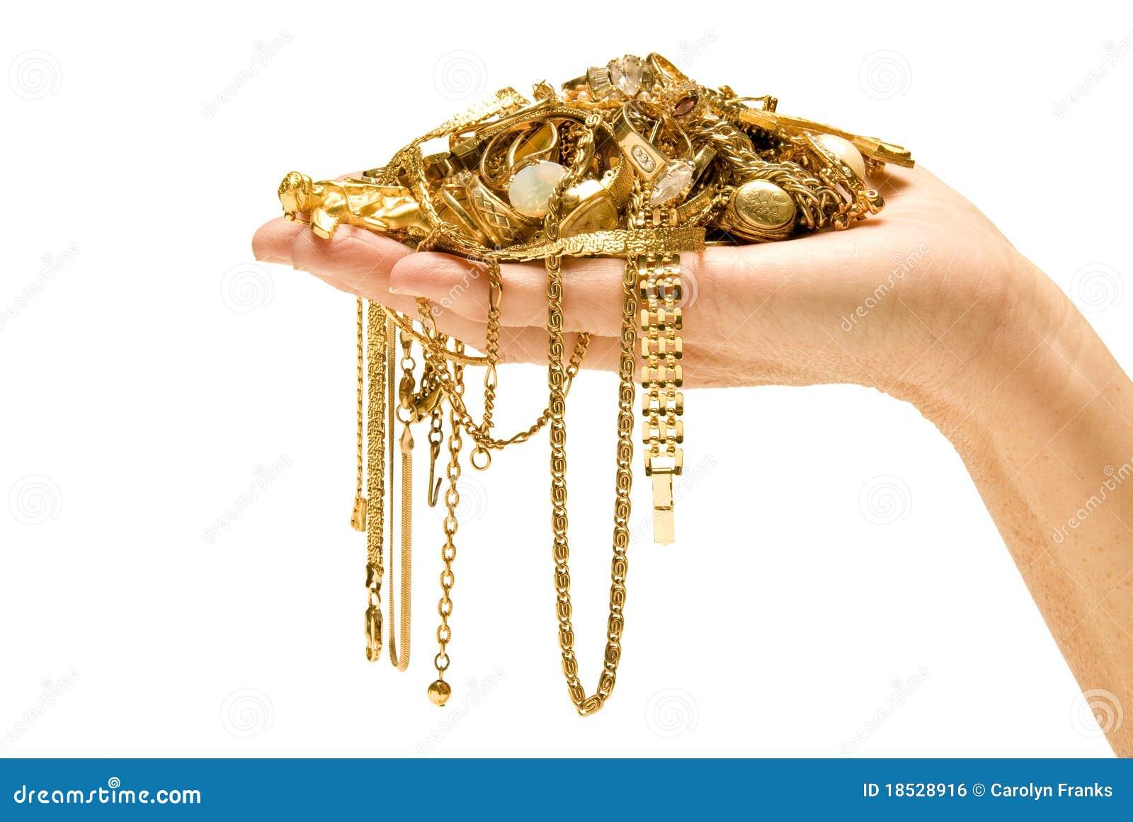 Золото удерживания руки