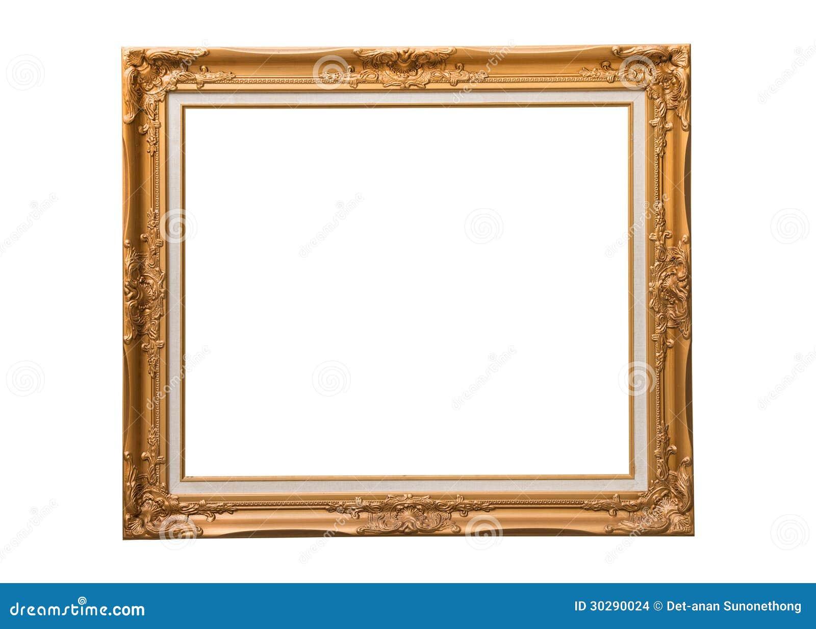 Золотистая рамка фото