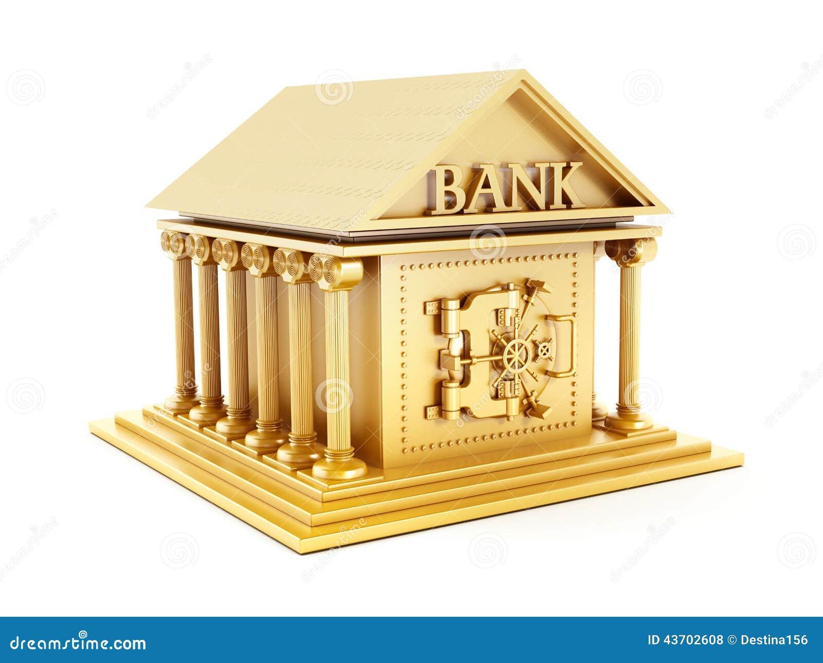 Золотистое здание банка