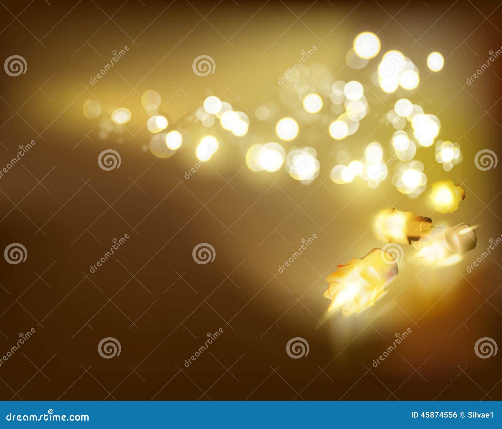 золотистые светильники также вектор иллюстрации притяжки corel