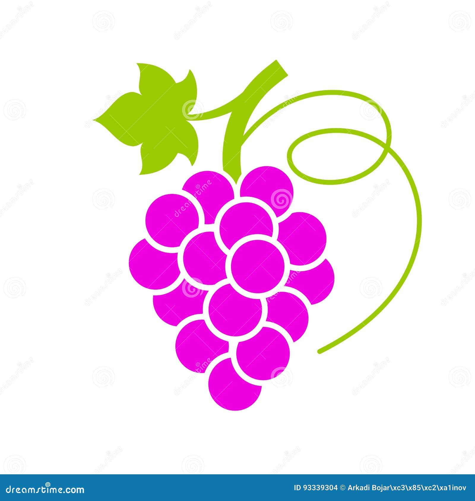 Зрелый значок вектора пука виноградины