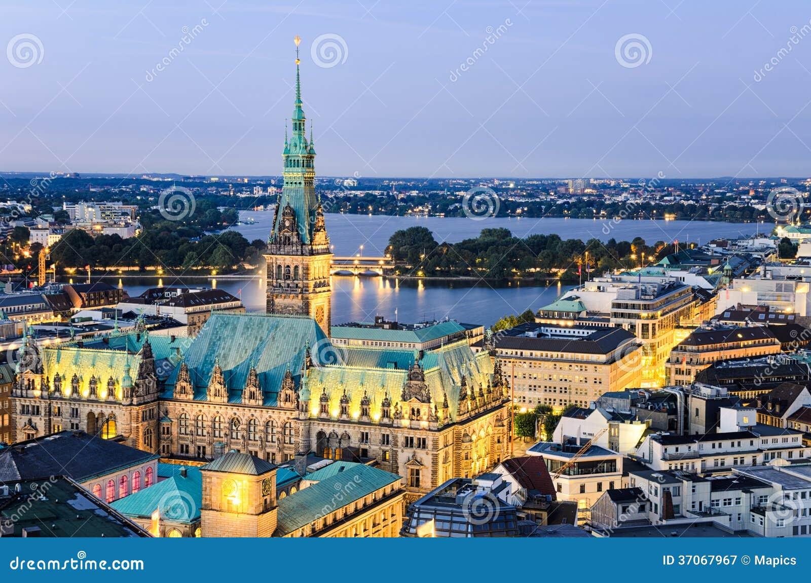 Здание муниципалитет Гамбурга, Германии