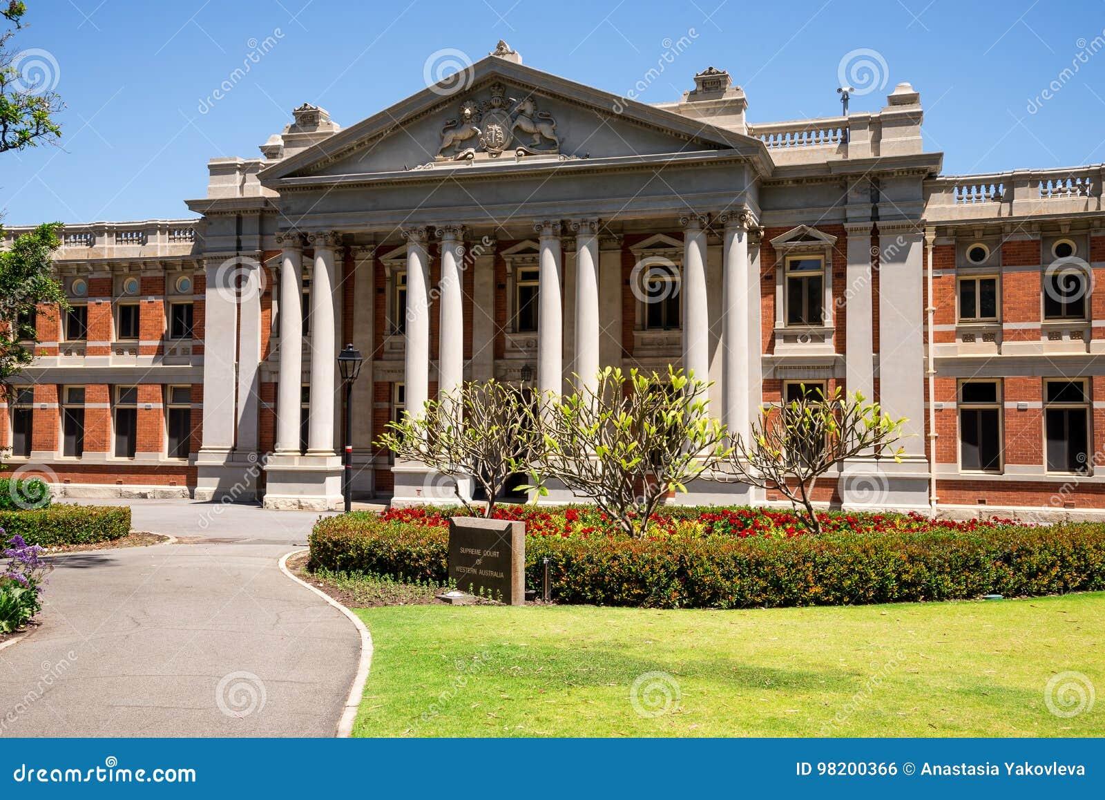 Download Здание наследия Верховного Суда в городе Перта Стоковое Фото - изображение насчитывающей подсудность, дело: 98200366