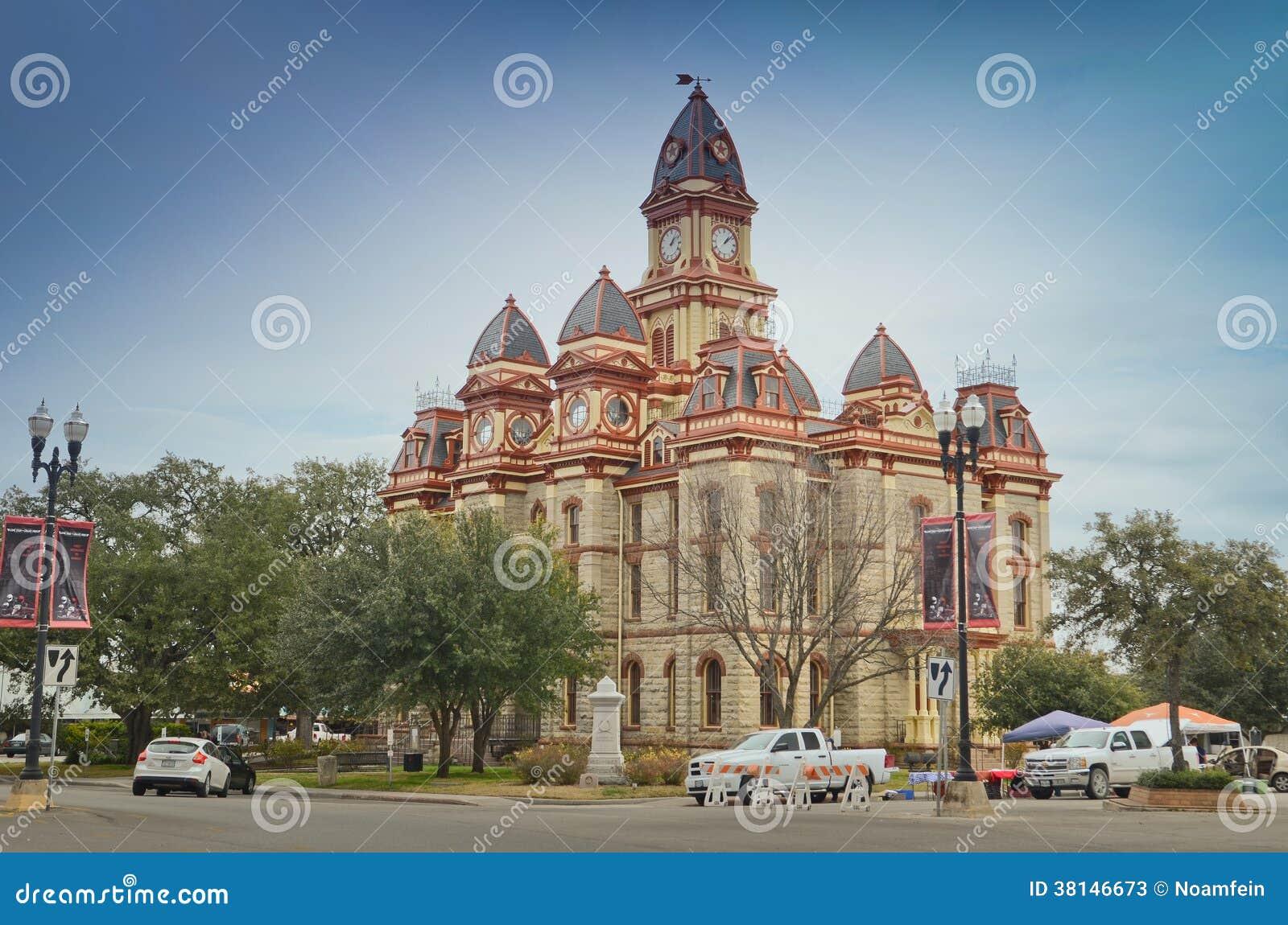 Здание суда Caldwell County в Lockhart Техасе