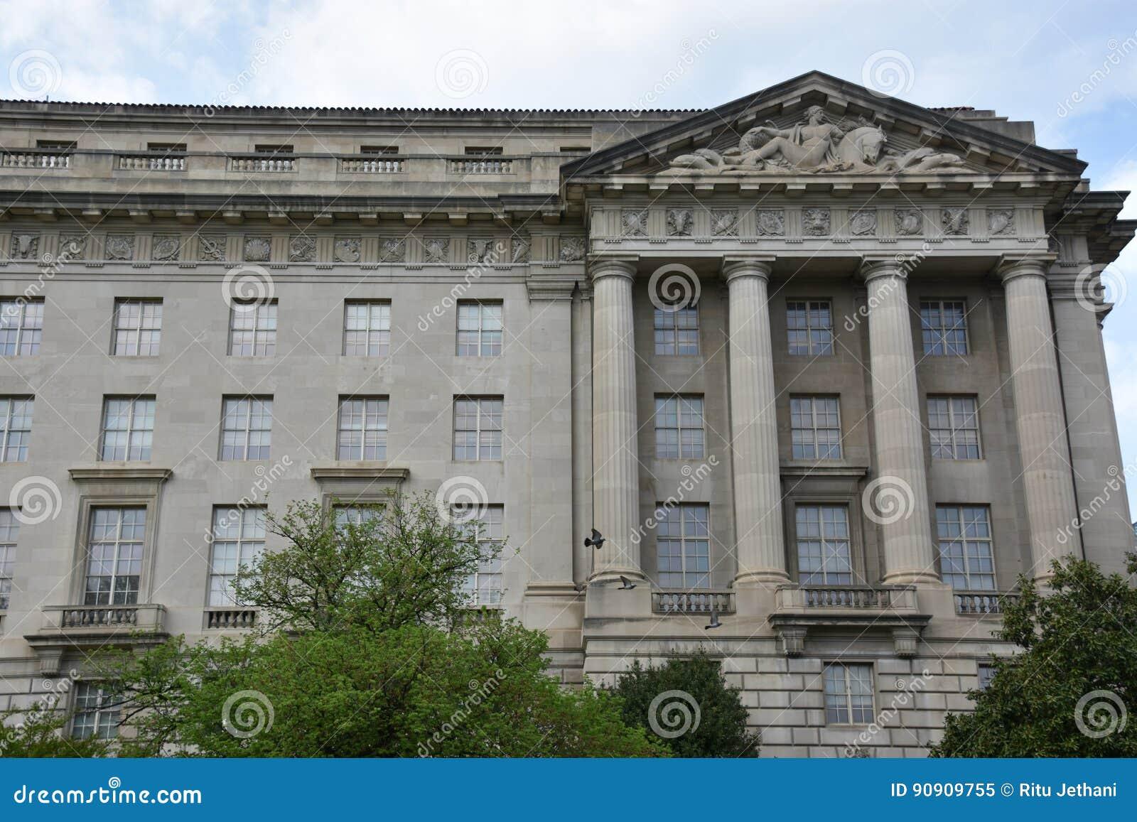 Здание Уильям Джефферсон Клинтона федеральное в DC Вашингтона