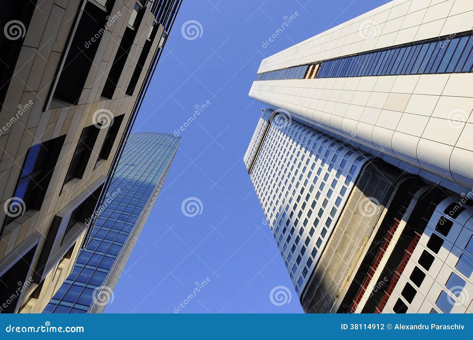 Здания неба от Франкфурта, Германии