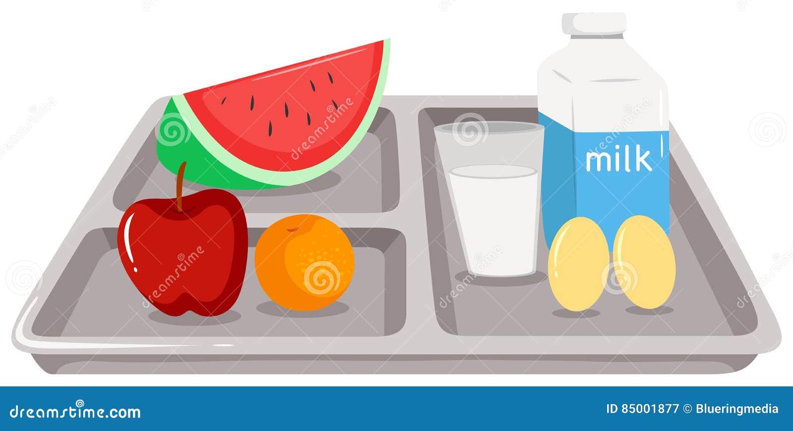 Здоровая еда на подносе