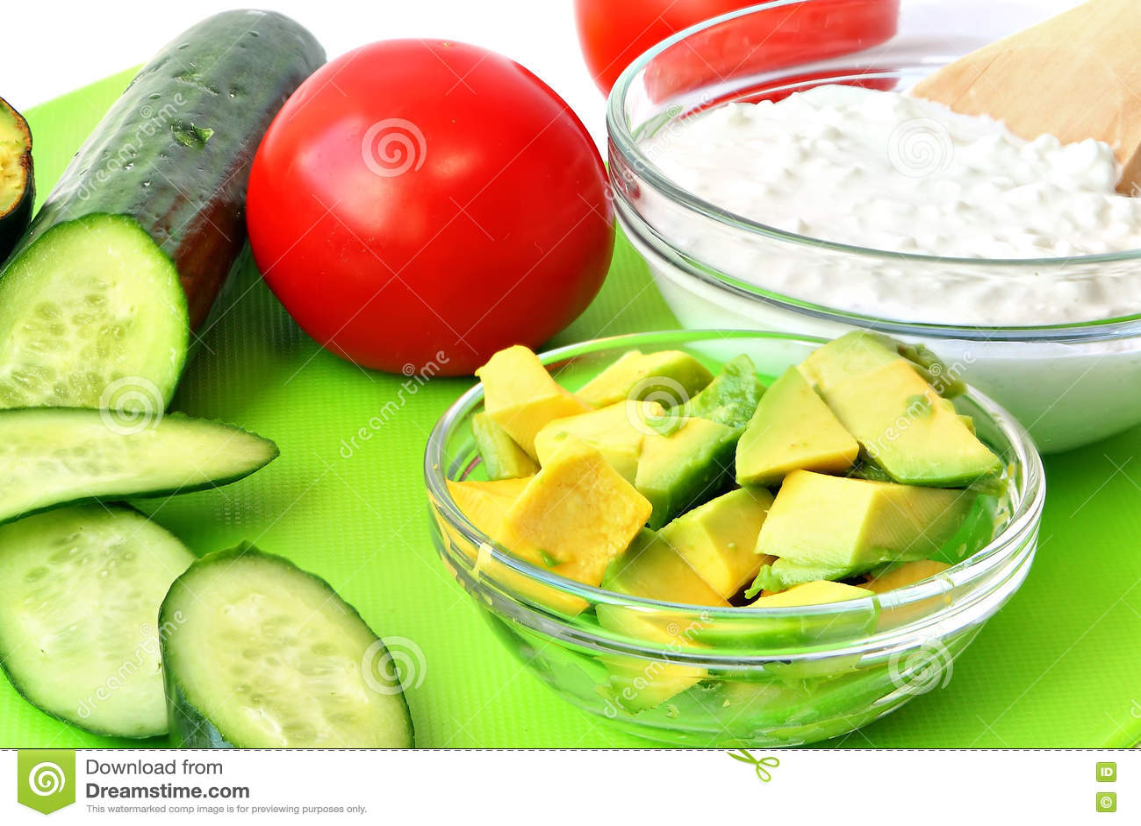 Здоровая еда для среднеземноморских завтрака или закуски
