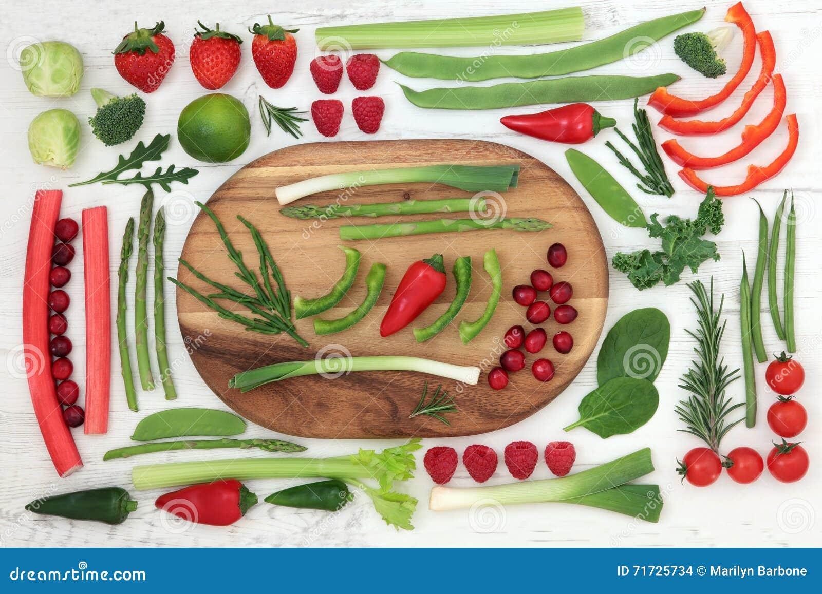 Здоровая свежая супер еда