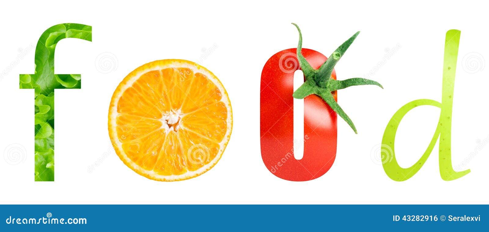 Здоровое слово еды