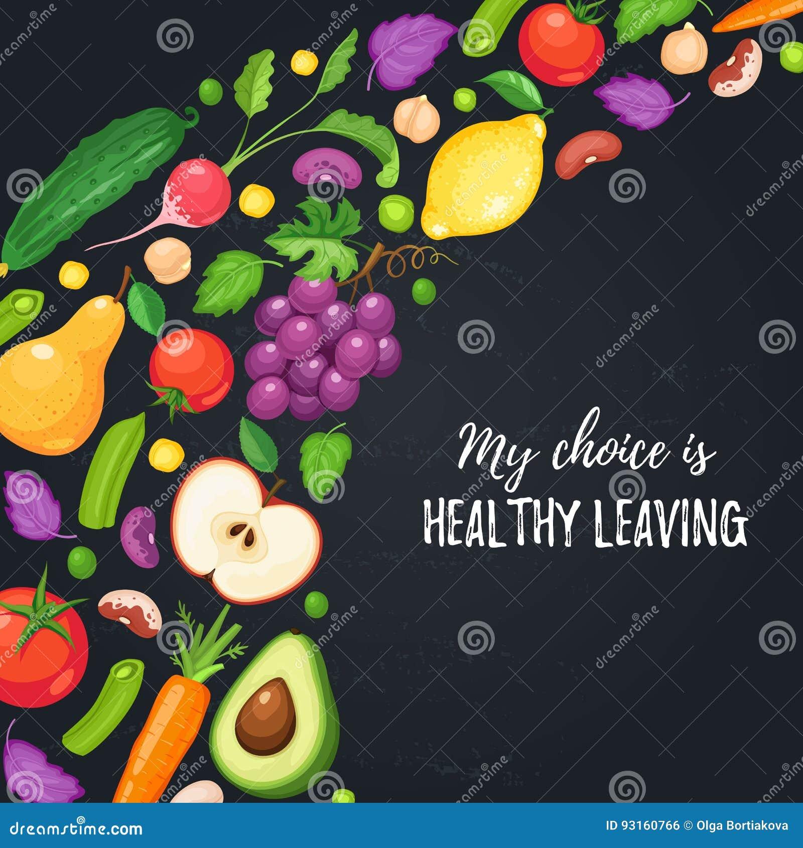 Здоровый плакат еды