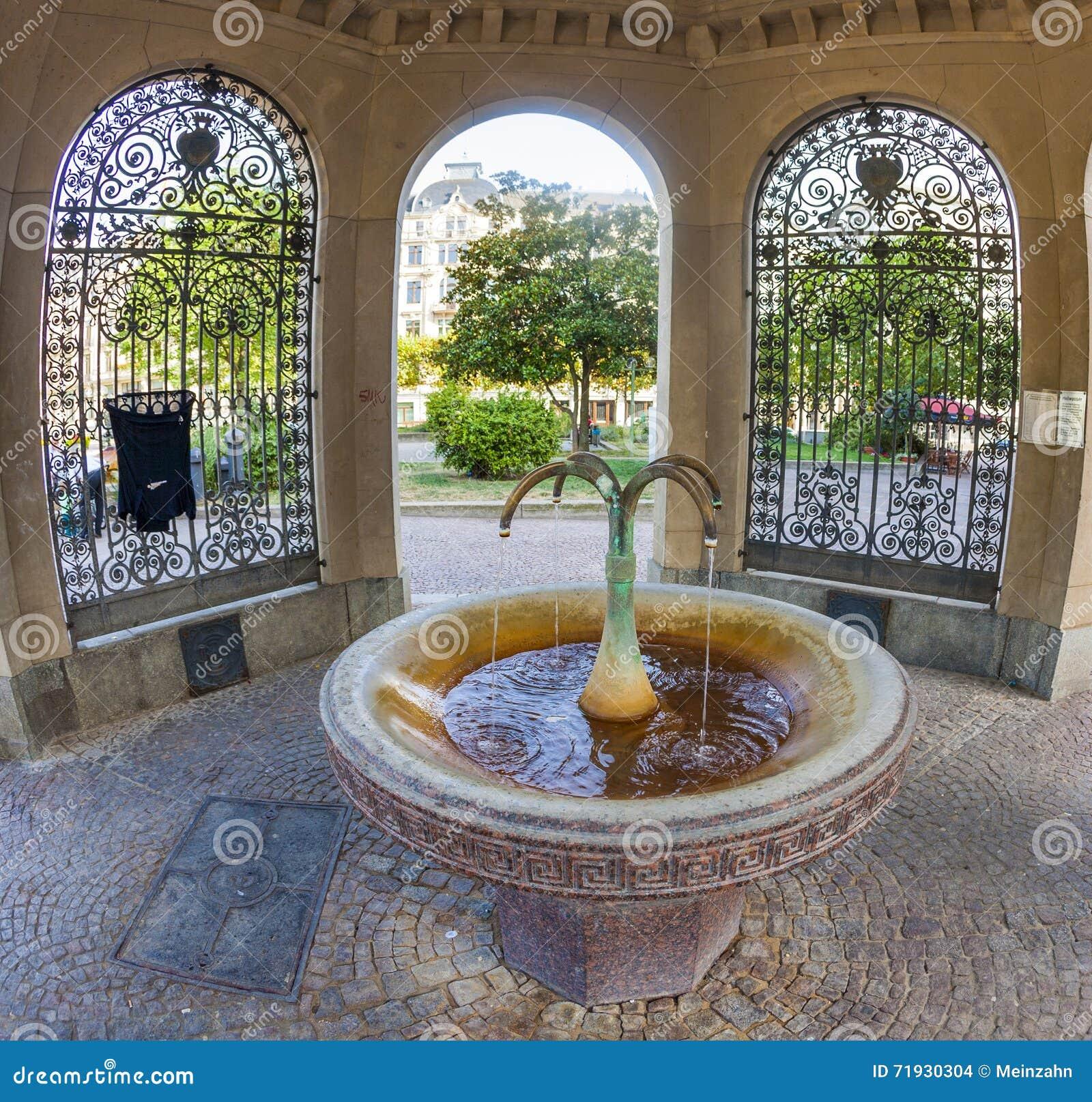 Здоровый kochbrunnen в Висбадене, Германии