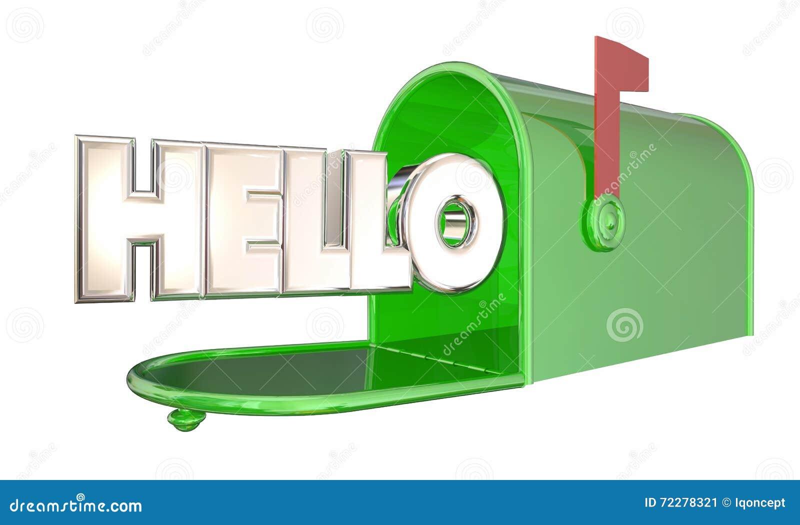 Download Здравствуйте! гостеприимсво слова почтового ящика приветствию Иллюстрация штока - иллюстрации насчитывающей металл, приезжают: 72278321