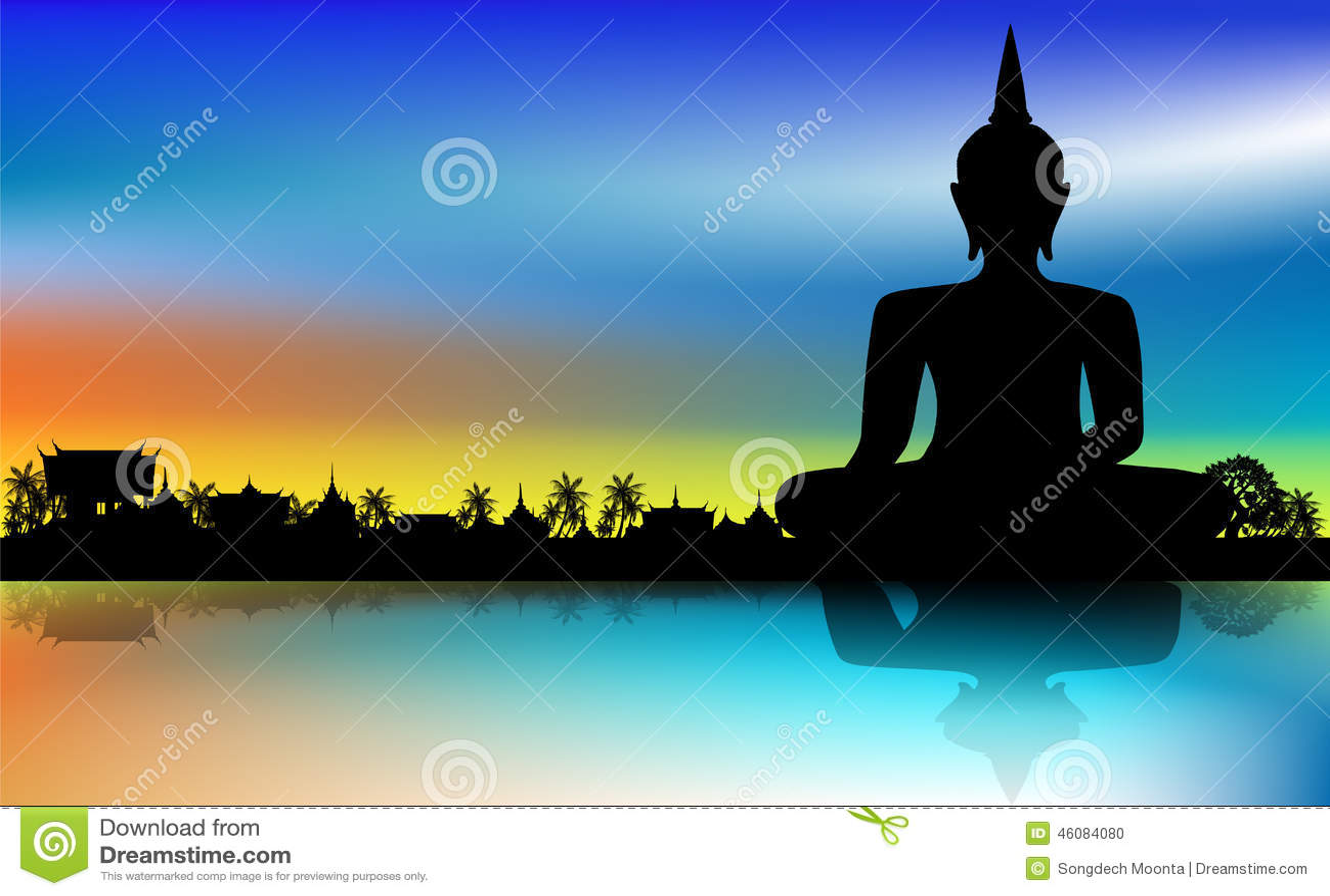 диаграмма усаживание Будды