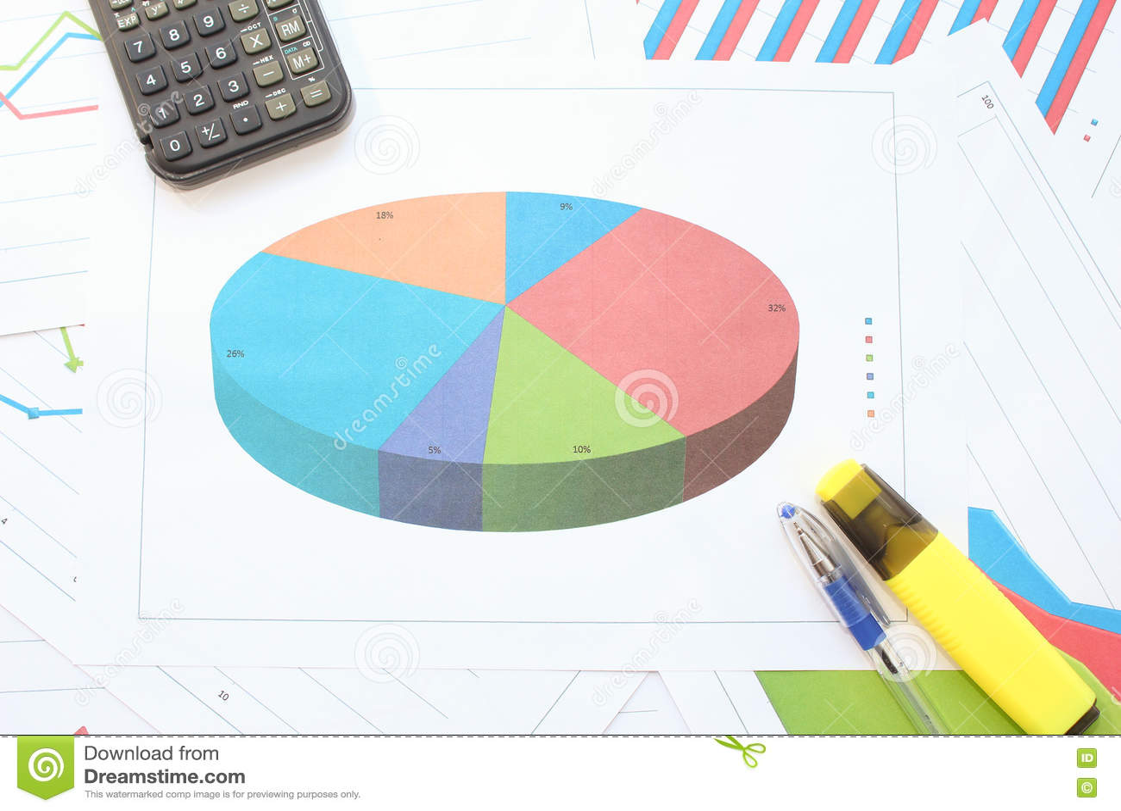 Download диаграммы диаграммы дела изолировали белизну расстегая Стоковое Фото - изображение насчитывающей учета, рост: 72284698