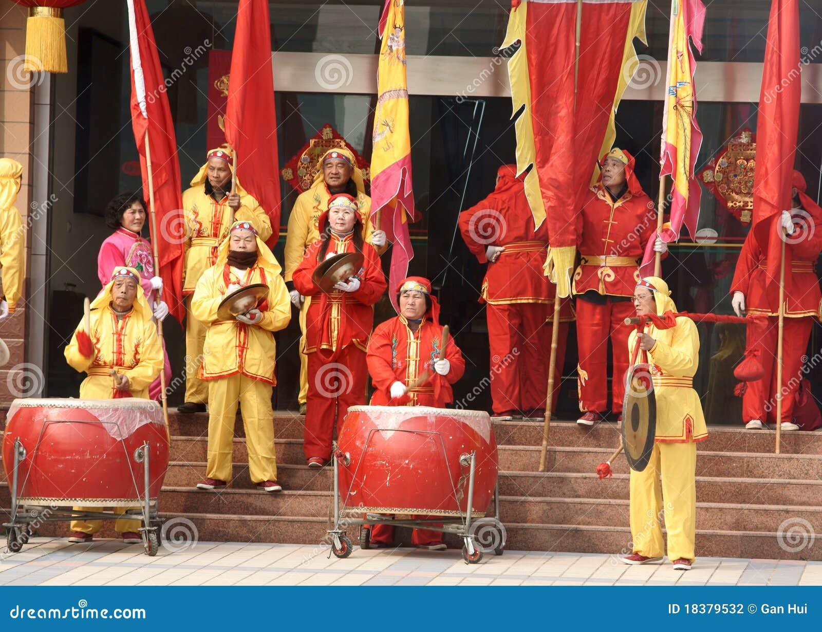 игра гонга барабанчика удара китайская