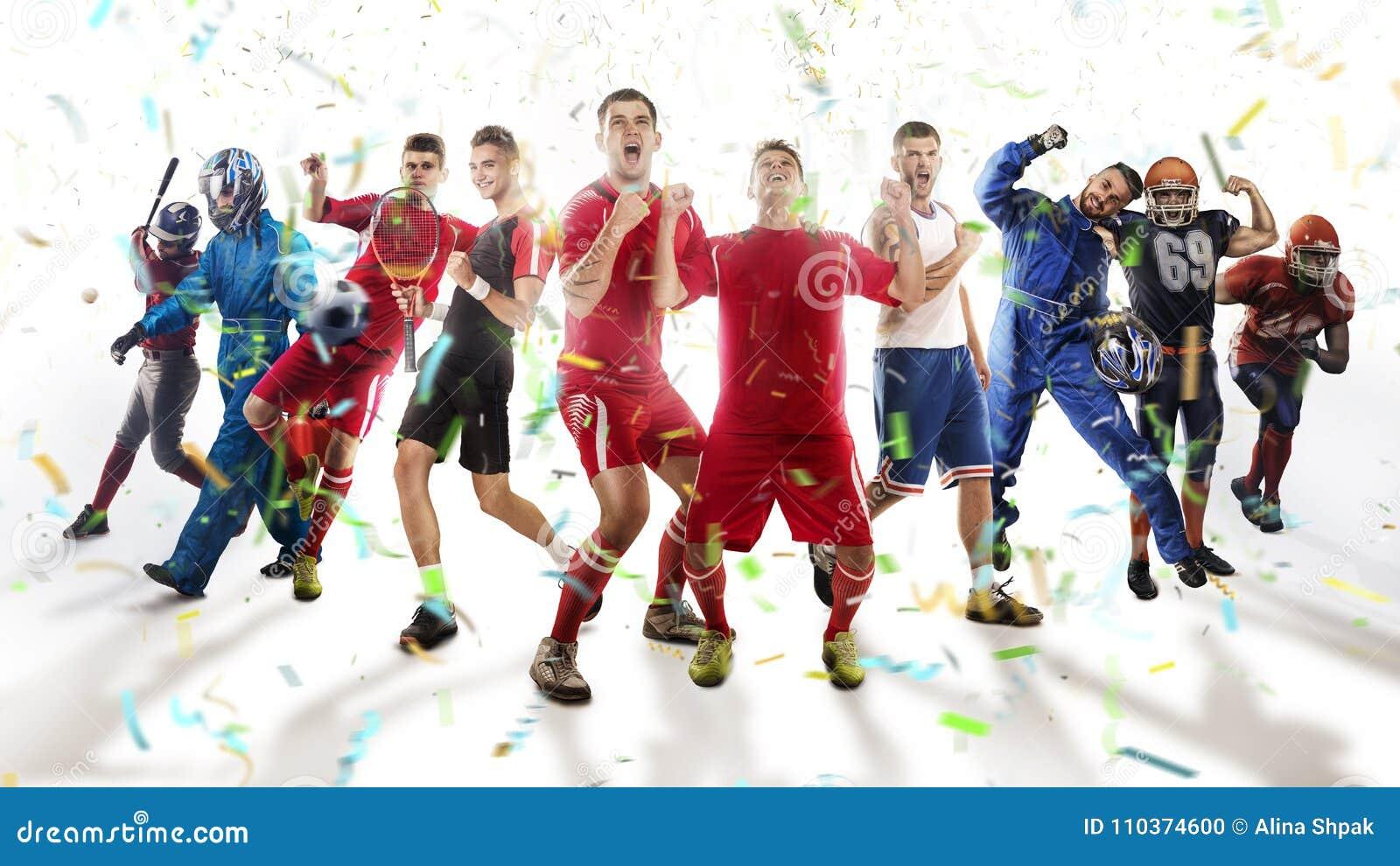 Игроки различных спорт изолированные на белизне