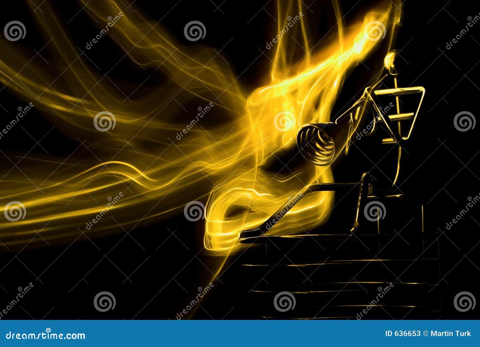 Download игрок пожара стоковое изображение. изображение насчитывающей игрок - 636653