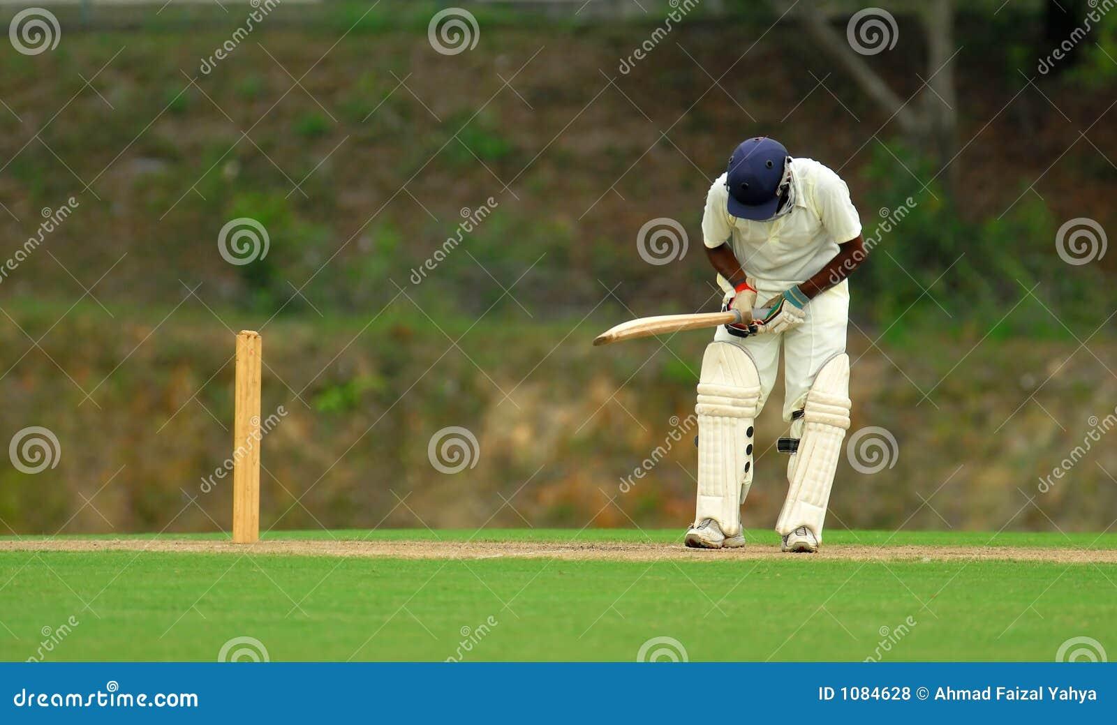 игрок с битой, отбивающий мяч