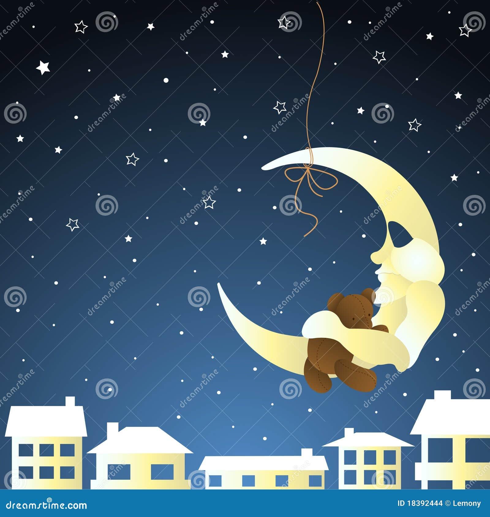 игрушечный луны приветствию карточки младенца