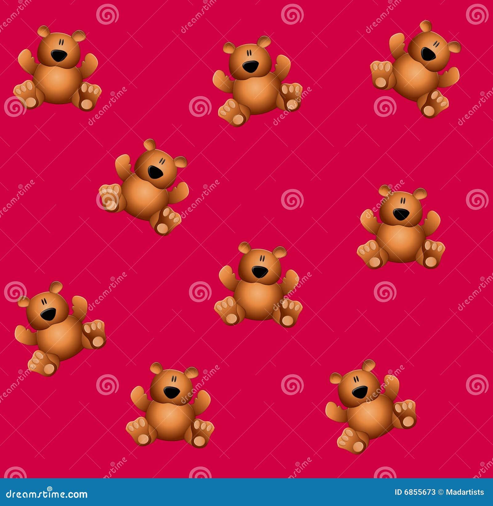 игрушечный медведей розовый tileable