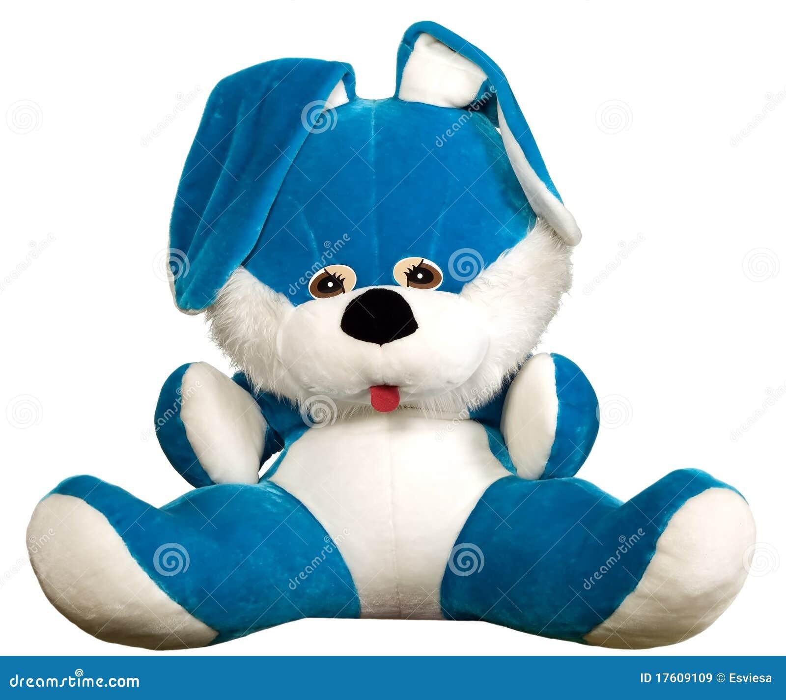 игрушка голубого кролика сидя