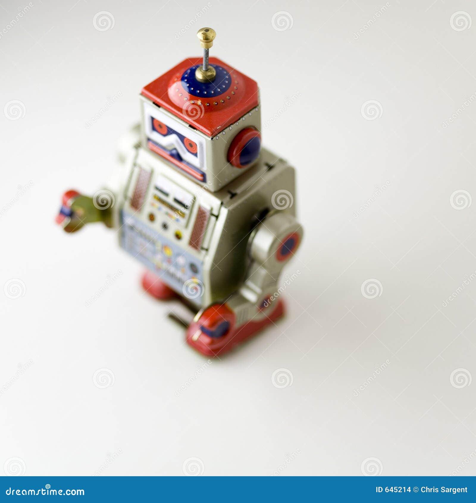 Download игрушка робота Clockwork коллекционная Стоковое Фото - изображение насчитывающей ветер, ретро: 645214