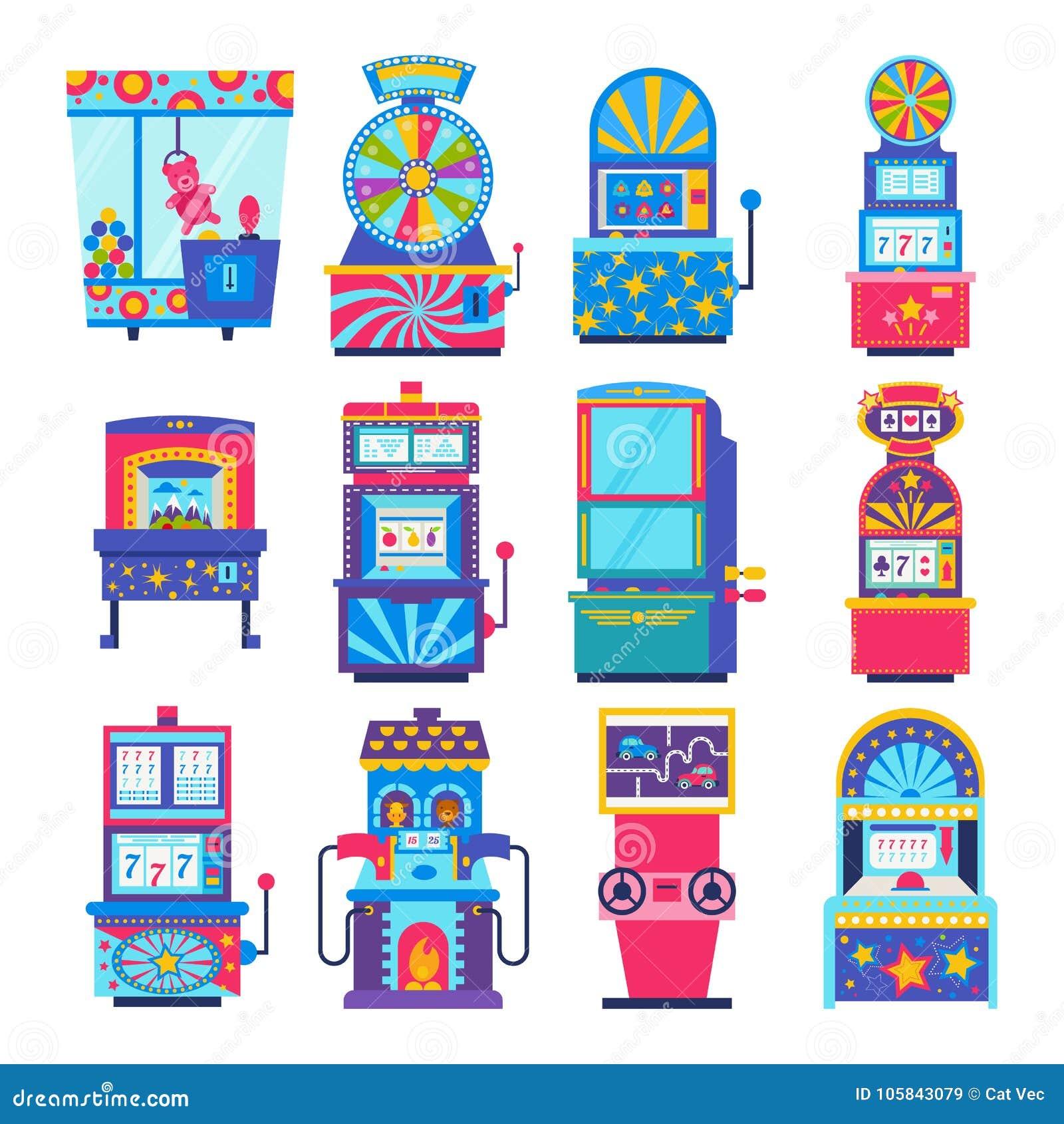 Игры аркады вектора игрового автомата играя в азартные игры в казино
