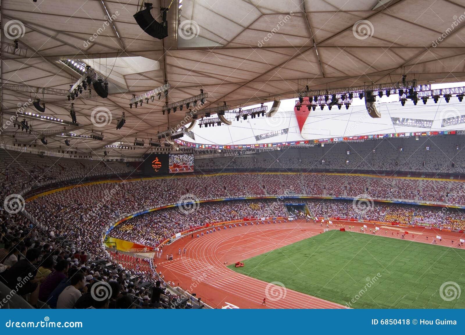 игры поля Пекин смололи paralympic след