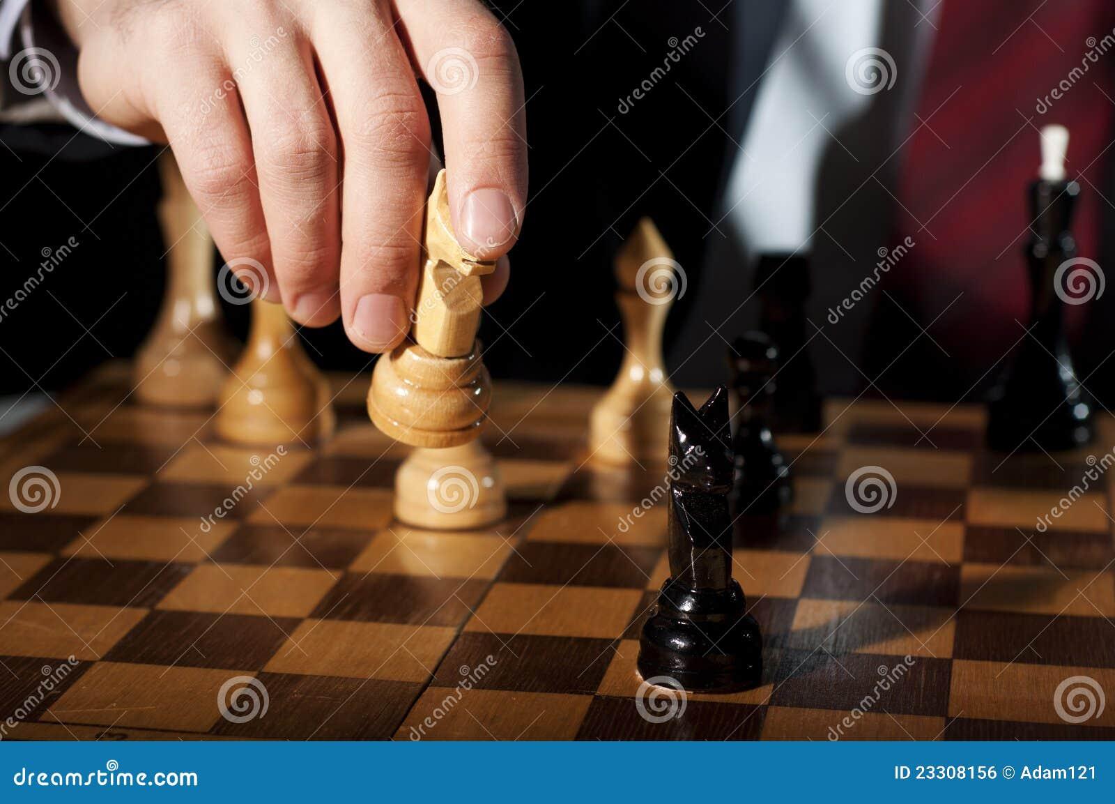 игры шахмат бизнесмена