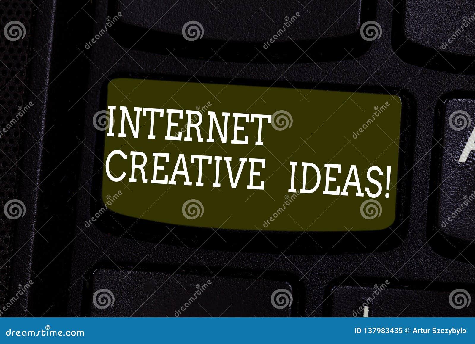 Идеи интернета показа знака текста творческие Схематическая способность фото сделать новые вещи или думает о новой клавиатуры иде