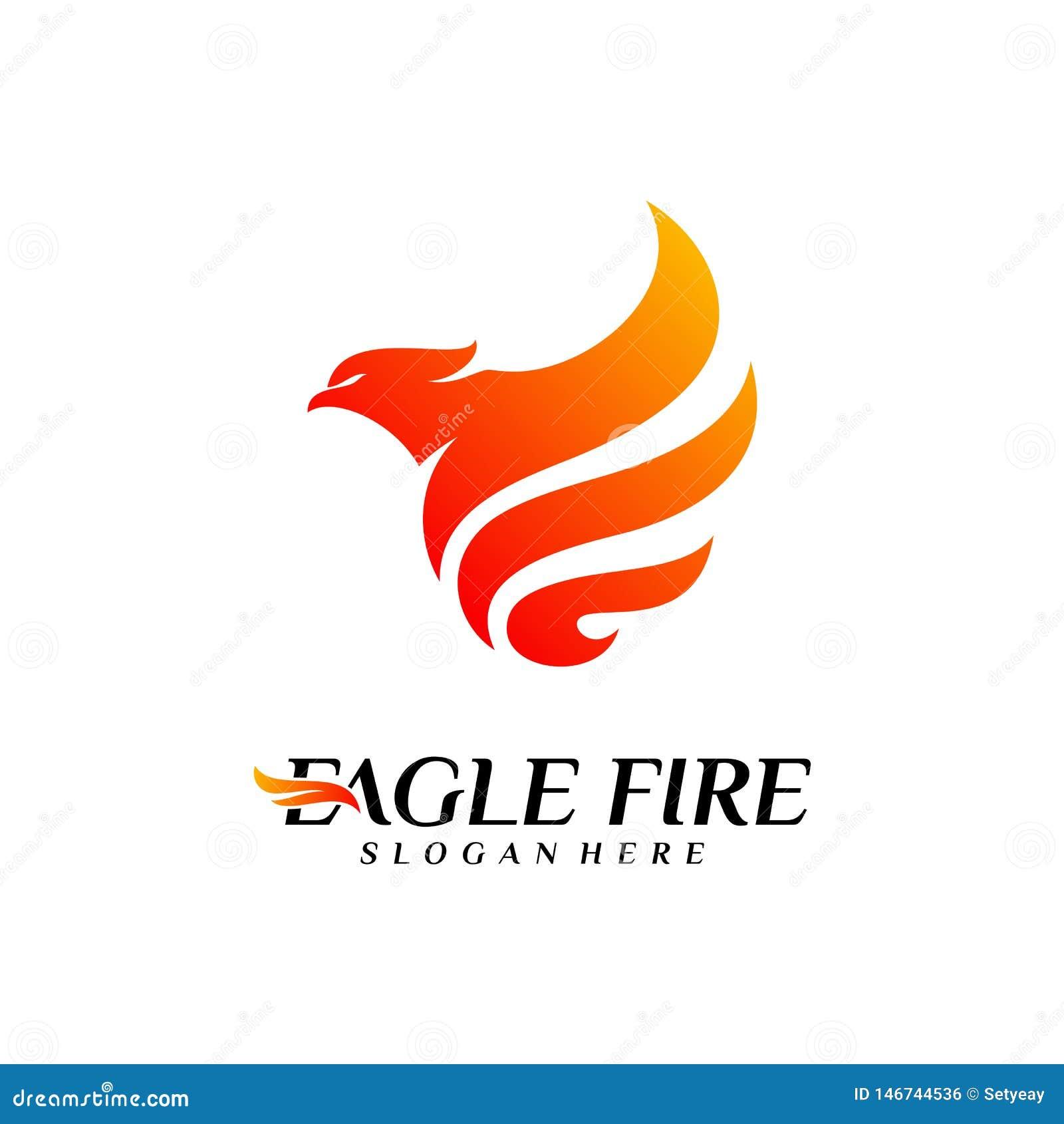 Идеи проекта логотипа птицы огня Феникса Вектор шаблона логотипа орла голубя r