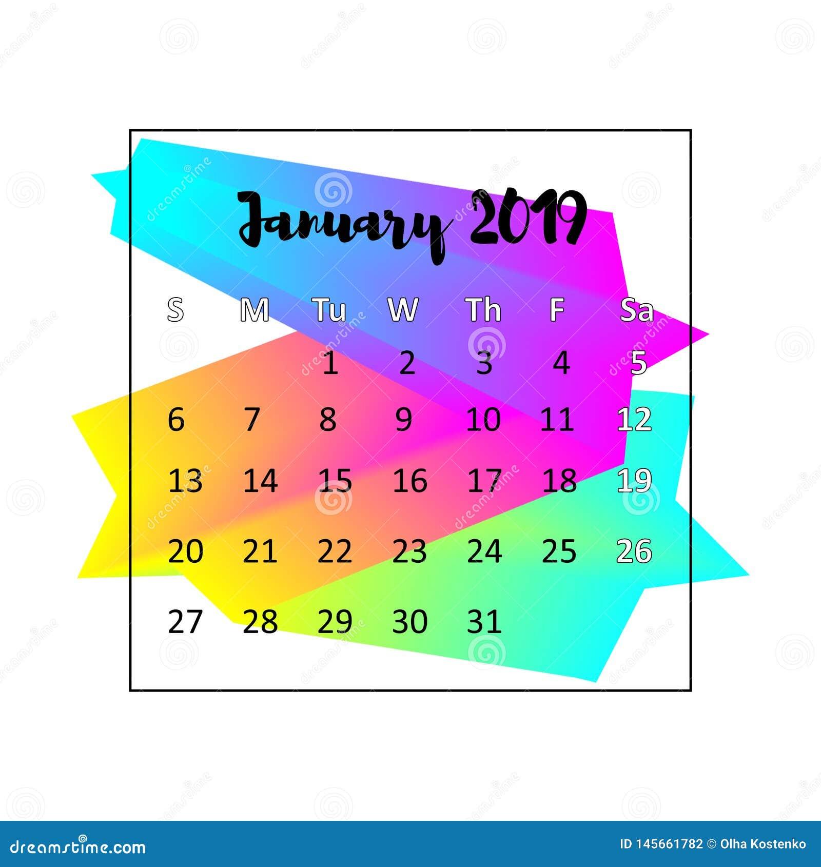 Идея проекта 2019 календаря r