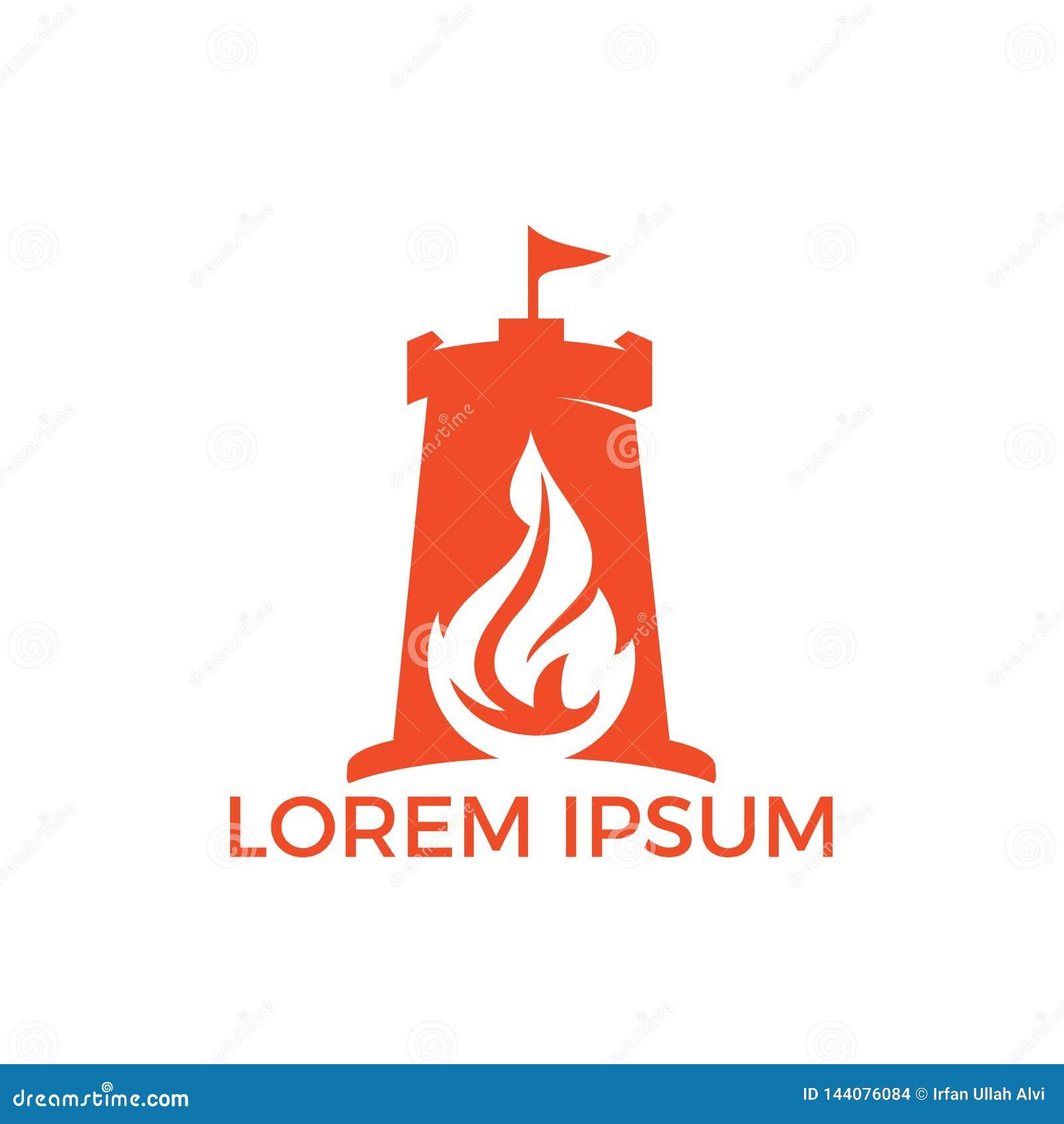 Идея проекта логотипа факела форта