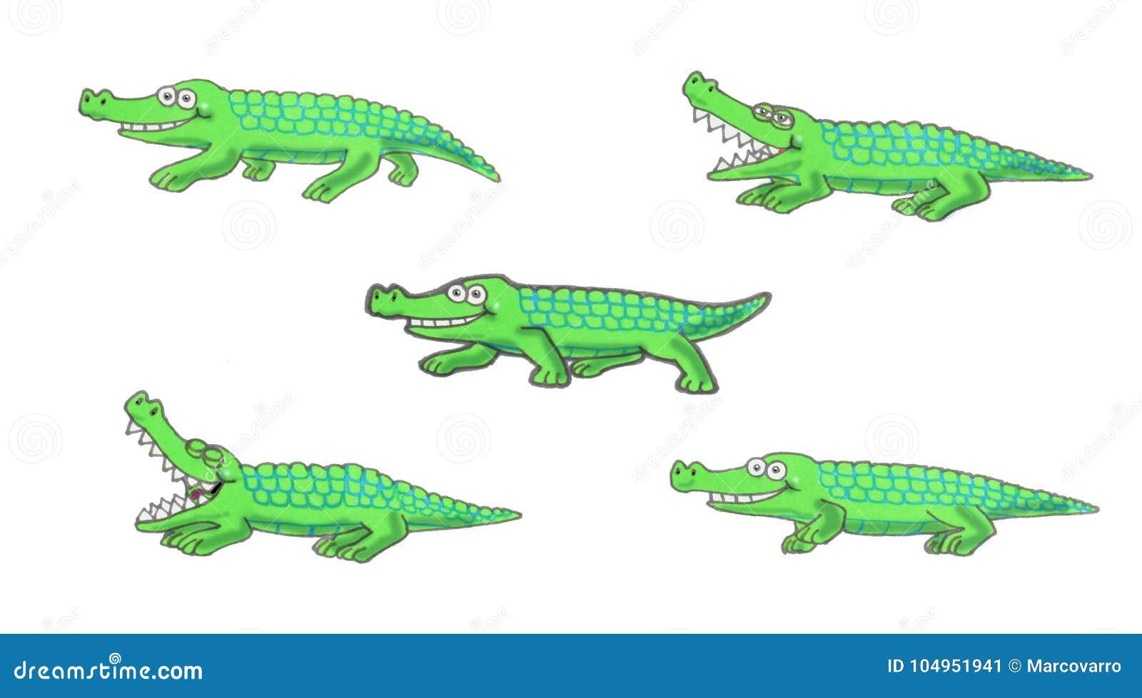 Идя иллюстрация крокодила