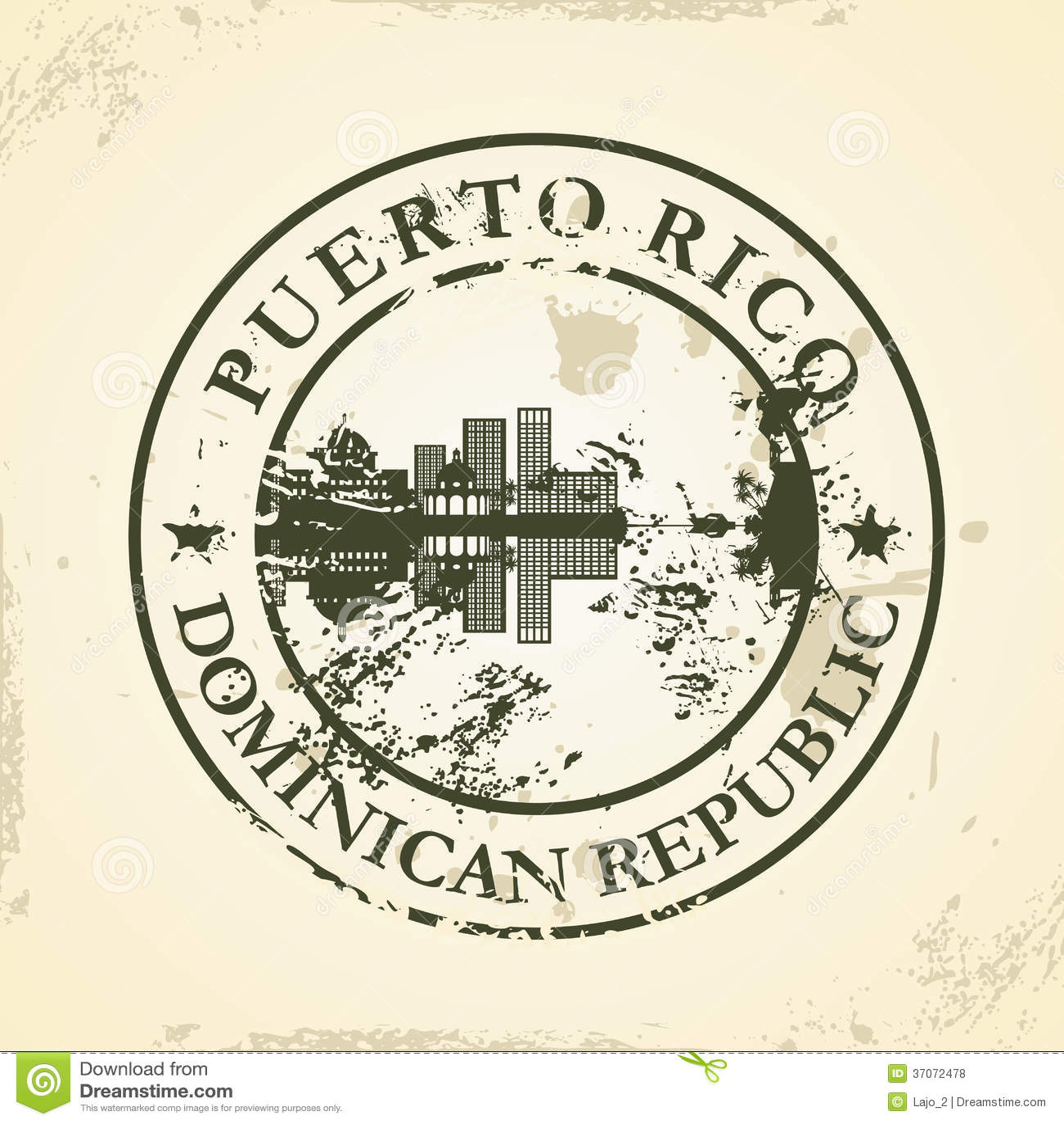 Избитая фраза Grunge с Пуэрто-Рико, доминиканским Re