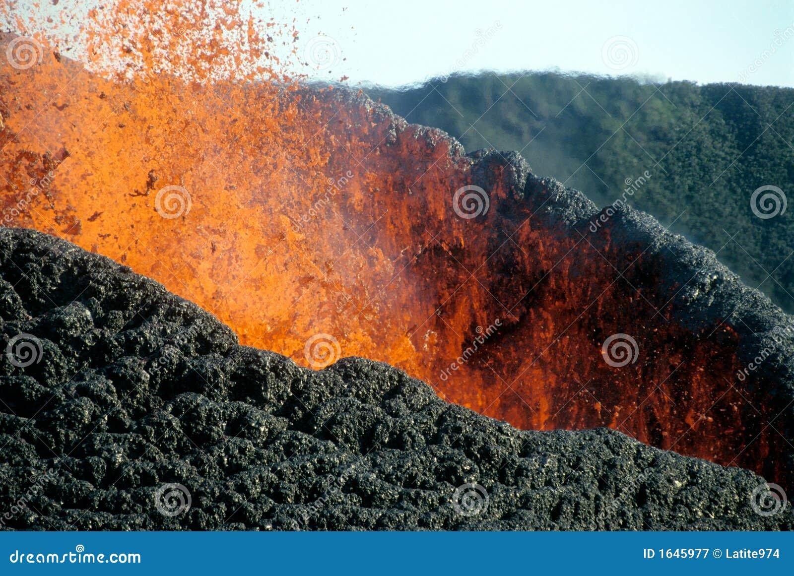 извержение вулканическое
