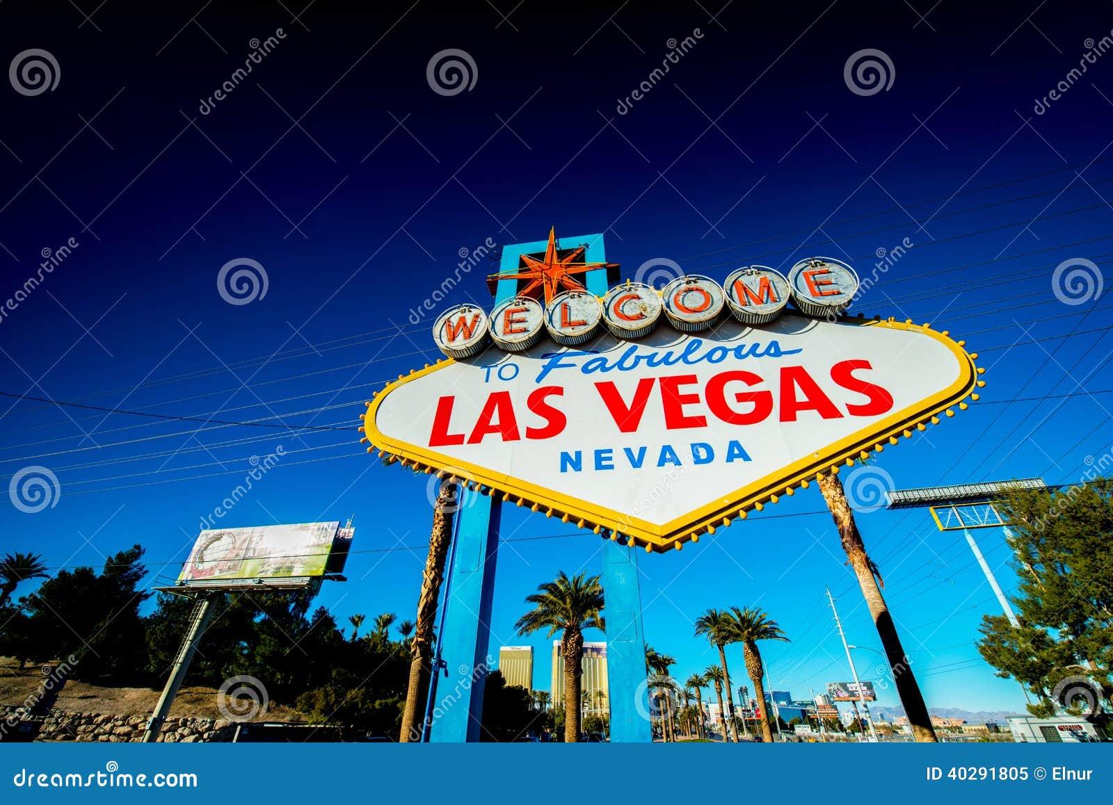 Известный знак Лас-Вегас