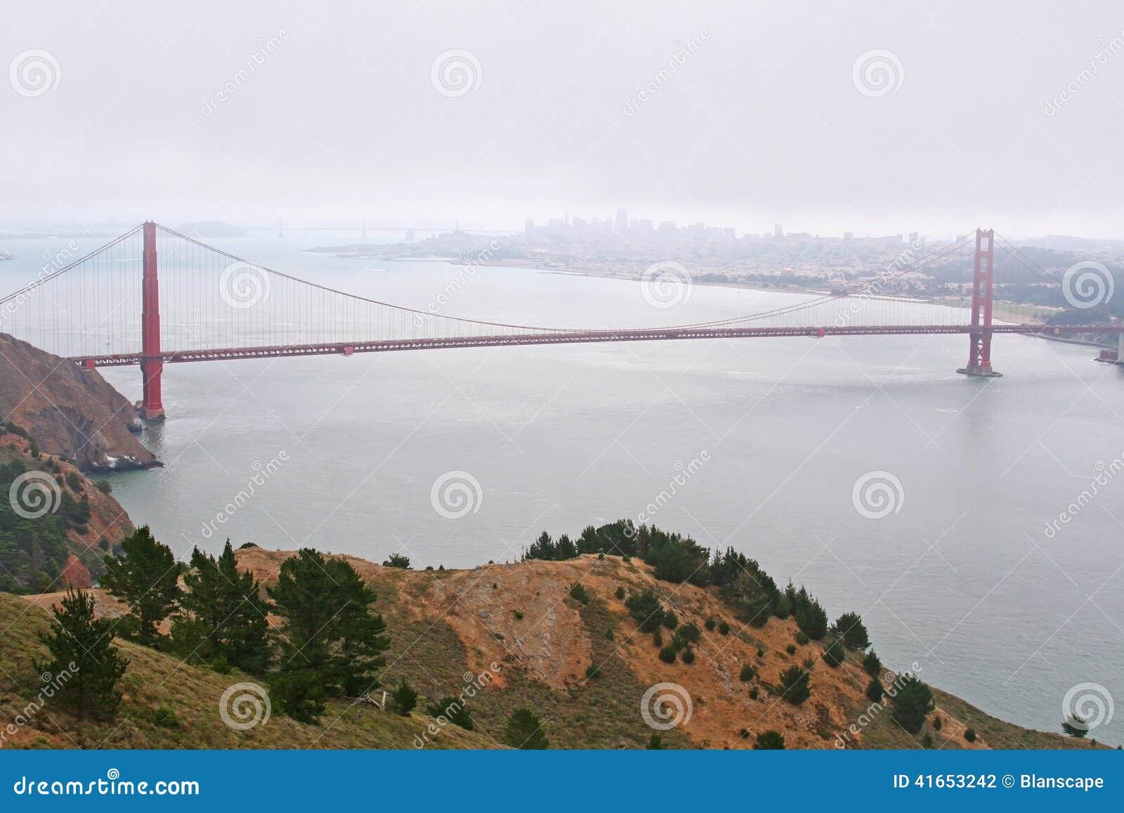 Известный мост золотого строба в Сан-Франциско