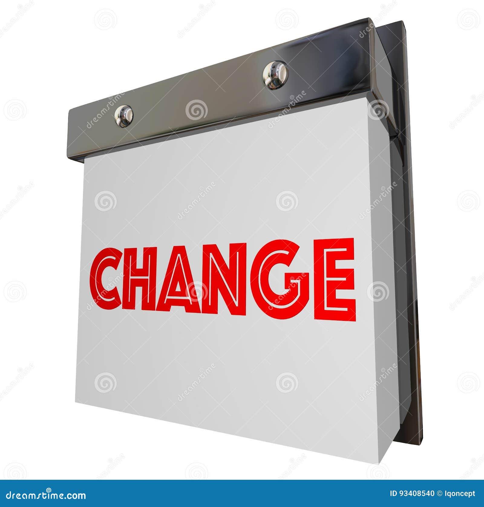Изменение улучшает приспосабливается регулирует эволюционирует комплекса предпусковых операций 3d Illustr календаря